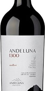 Andeluna 1300 - Malbec 2018 75cl Bottle