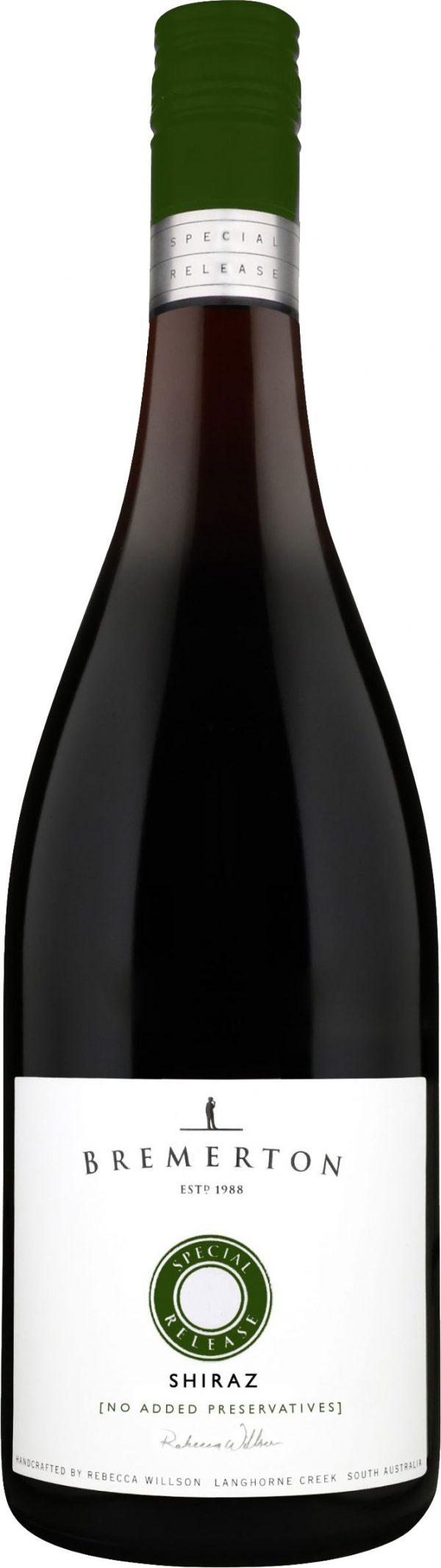 Bremerton - Preservative Free Shiraz 2019 75cl Bottle