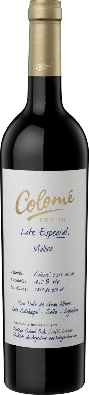 Bodega Colome - Lote Especial Finca Colome Salta Malbec 2019 75cl Bottle